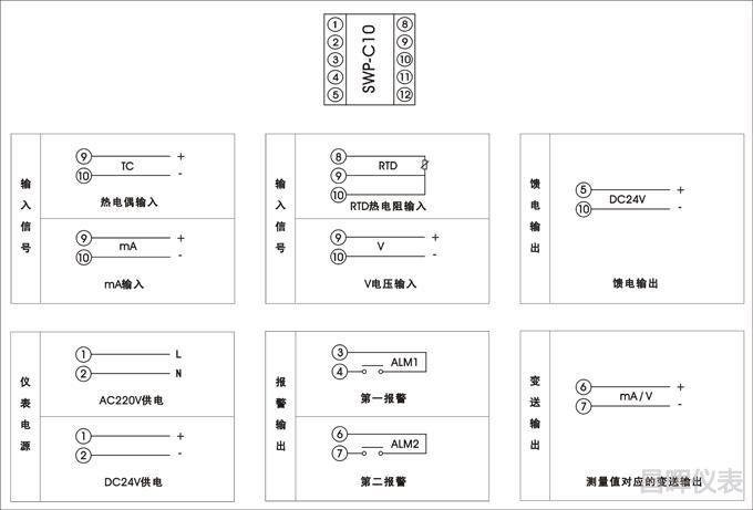 SWP-C10接线图