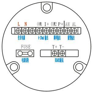 一体式电磁流量计接线图