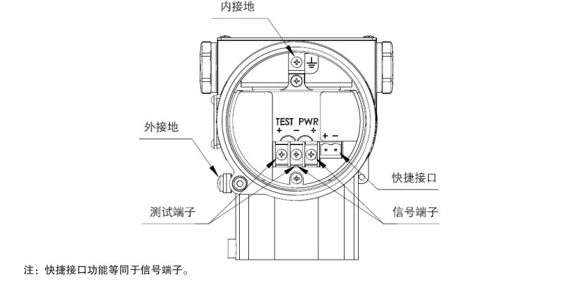 单晶硅卫生型绝压变送器电气接线图