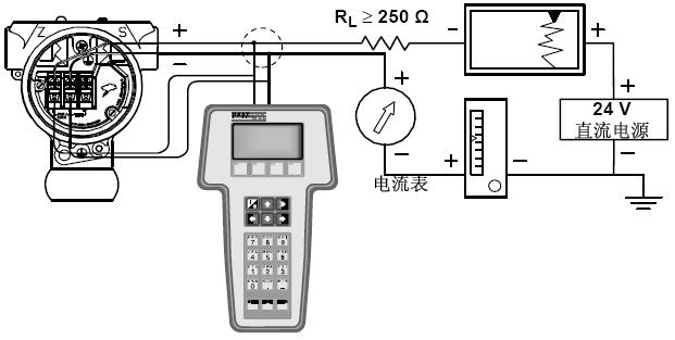 3051压力变送器接线原理图(4-20mA变送器)