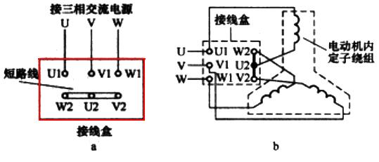 三相异步电动机星形接法接线