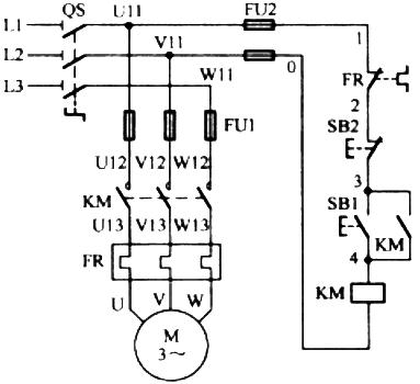 电动正转控制线路