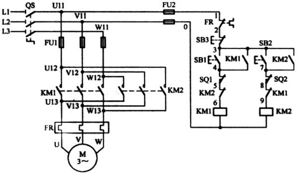 限位控制电路图