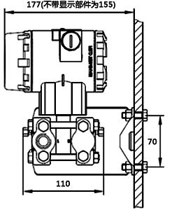 单晶硅微差压变送器墙面连接形式