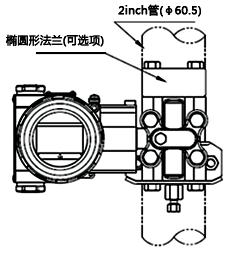 单晶硅微差压变送器垂直配管连接形式