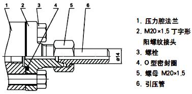 单晶硅变送器过程连接-M20×1.5不锈钢丁字型接头